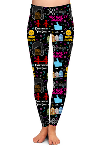 """HOW RUDE!"" LEGGINGS - YOGA - EXCLUSIVE!"