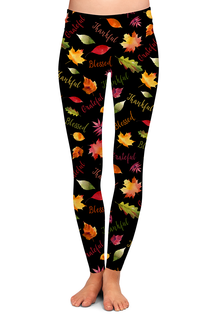 PRE ORDER GRATEFUL, THANKFUL, BLESSED LEGGINGS - YOGA - EXCLUSIVE! BATCH 1