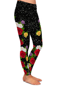 PRE ORDER GLITTER FLORAL LEGGINGS - YOGA - EXCLUSIVE! BATCH 2