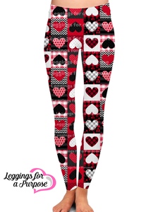 PATCHWORK HEART LEGGINGS - YOGA - EXCLUSIVE!