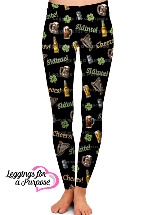 ST. PATRICK'S DAY CHEERS LEGGINGS - YOGA - EXCLUSIVE!