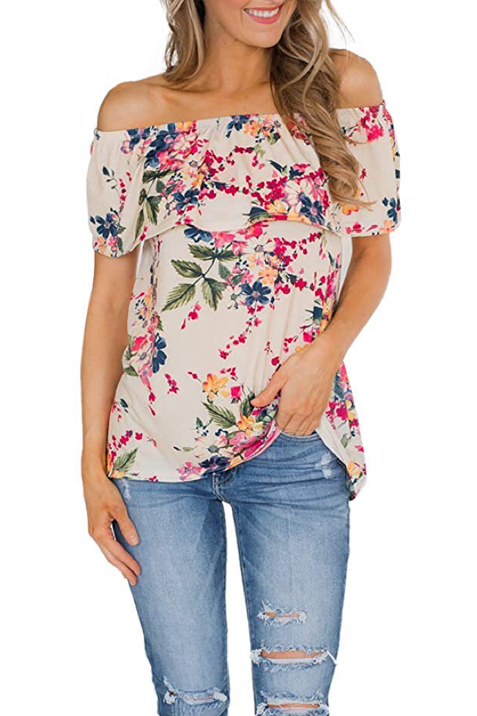PRE ORDER OFF THE SHOULDER FLORAL TOP