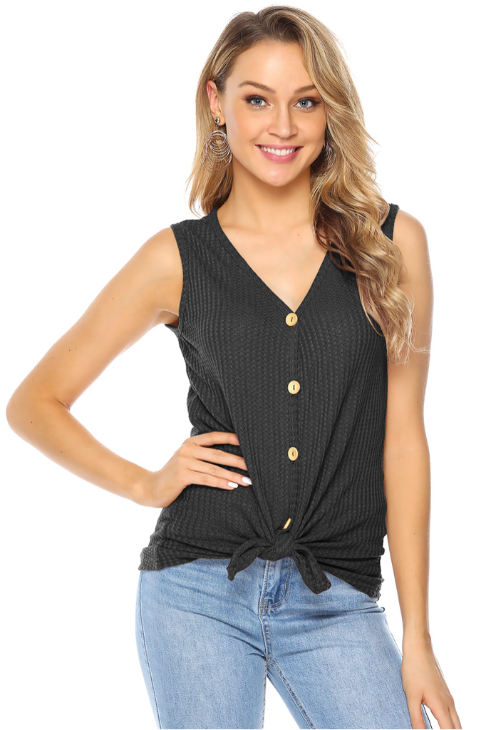 HENLEY BUTTON DOWN TANK