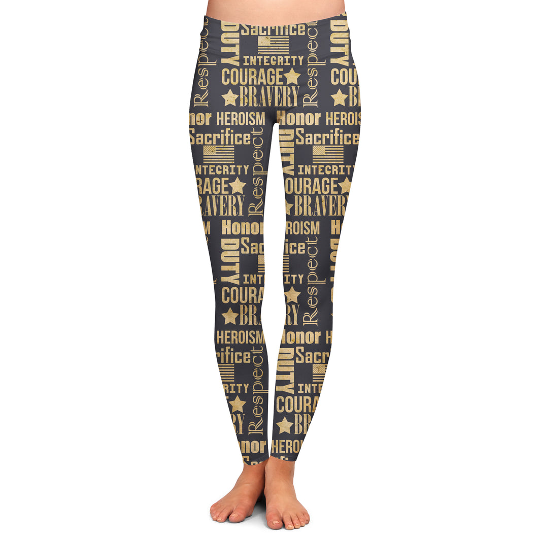 MILITARY RESPECT LEGGINGS - YOGA - EXCLUSIVE!