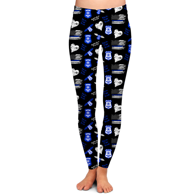 BACK THE BLUE LEGGINGS - YOGA - EXCLUSIVE!