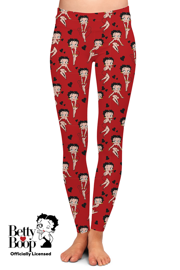 RED BETTY BOOP™ LEGGINGS - YOGA - EXCLUSIVE!