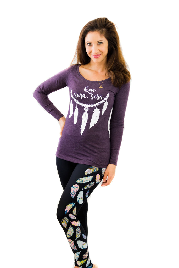 DS FEATHER LEGGINGS - YOGA - EXCLUSIVE! (WHOLESALE)