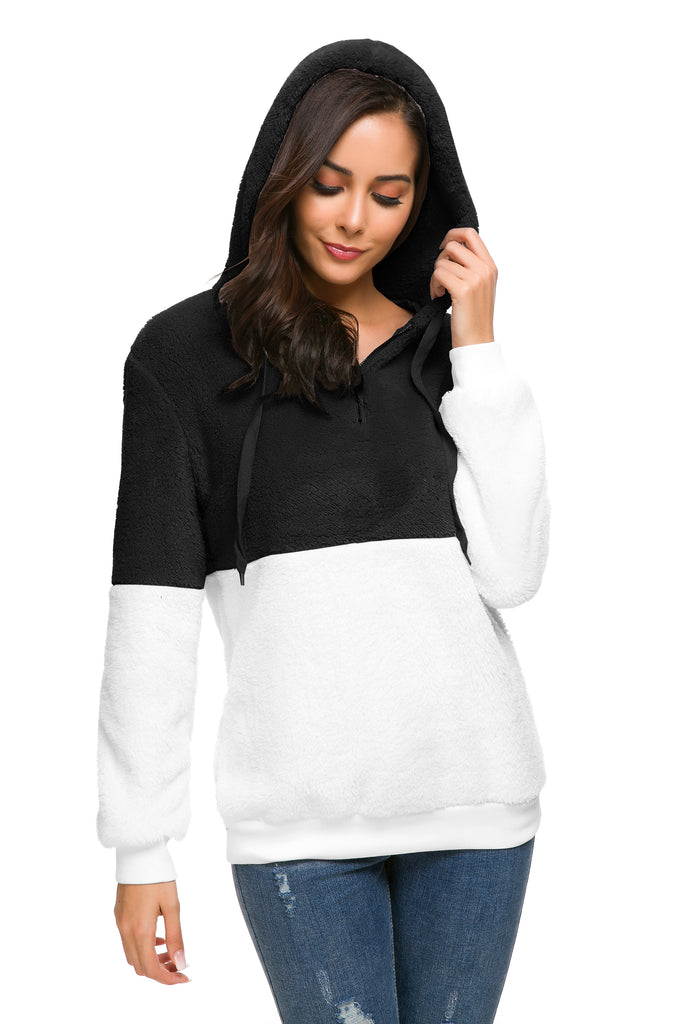PLUSH COLOR BLOCK PULLOVER