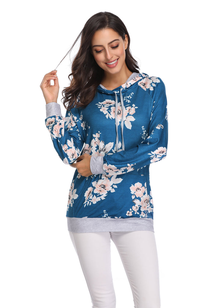DS FLORAL HOODIE LONG SLEEVE SHIRT (WHOLESALE)