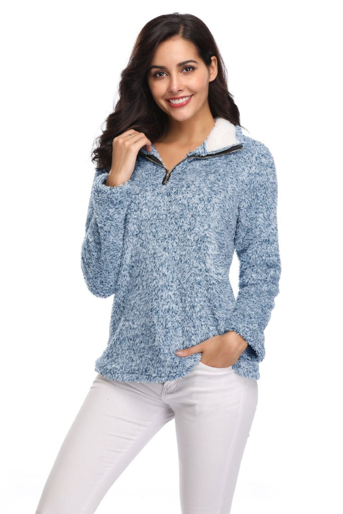 ZIP UP FLEECE TOP PULLOVER