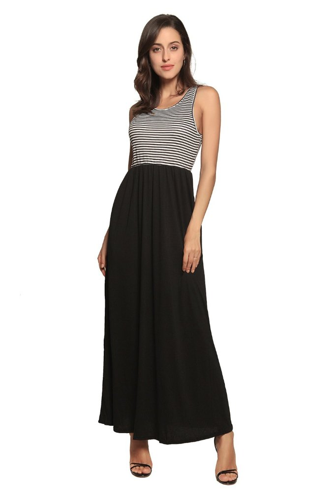 STRIPE TOP MAXI DRESS