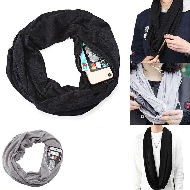 DS INFINITI SCARF WITH HIDDEN POCKET (WHOLESALE)