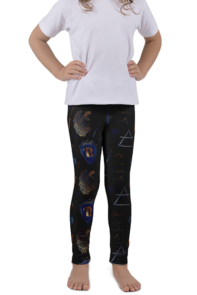 KIDS MAGICAL WIZARD SERIES EAGLE HOUSE LEGGINGS - YOGA - EXCLUSIVE!