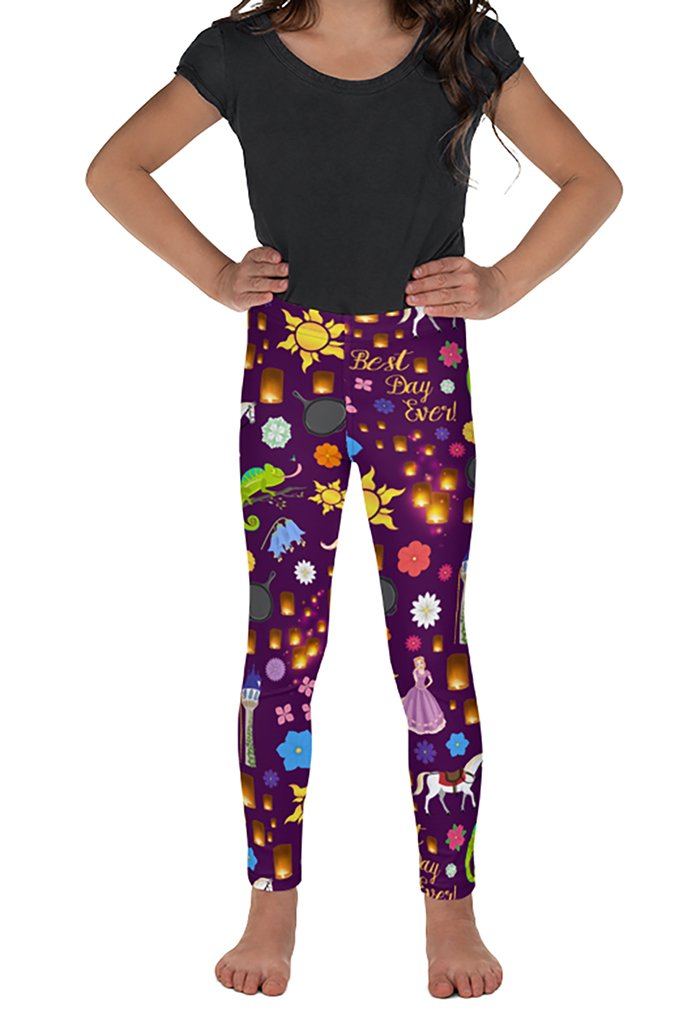 DS KIDS LET DOWN YOUR HAIR LEGGINGS - YOGA - EXCLUSIVE! (WHOLESALE)
