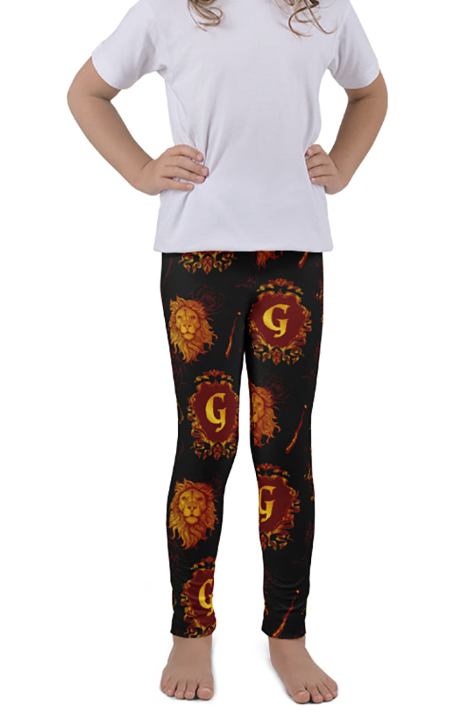KIDS MAGICAL WIZARD SERIES LION HOUSE LEGGINGS - YOGA - EXCLUSIVE!