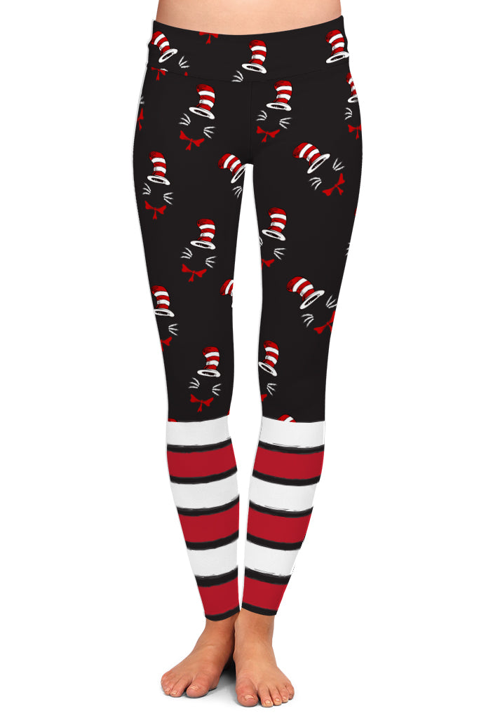 PRE ORDER KIDS CAT WITH A HAT LEGGINGS - YOGA - EXCLUSIVE! BATCH 3