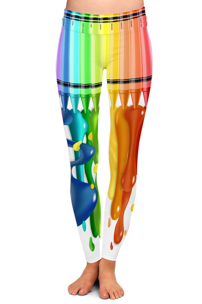 CRAYON DRIP LEGGINGS - YOGA - EXCLUSIVE!