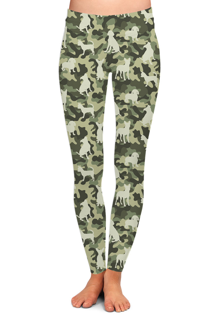 DOG CAMO LEGGINGS - YOGA - EXCLUSIVE!