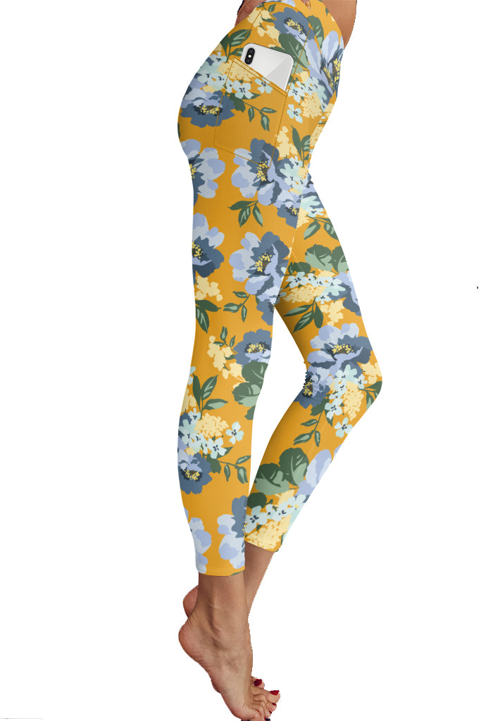 PRE ORDER FALL FLORAL POCKET LEGGINGS - YOGA - EXCLUSIVE! BATCH 1