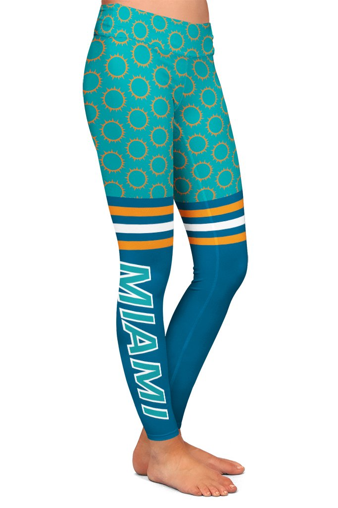 DS DOLPHINS FAN LEGGINGS - YOGA - EXCLUSIVE! (WHOLESALE)
