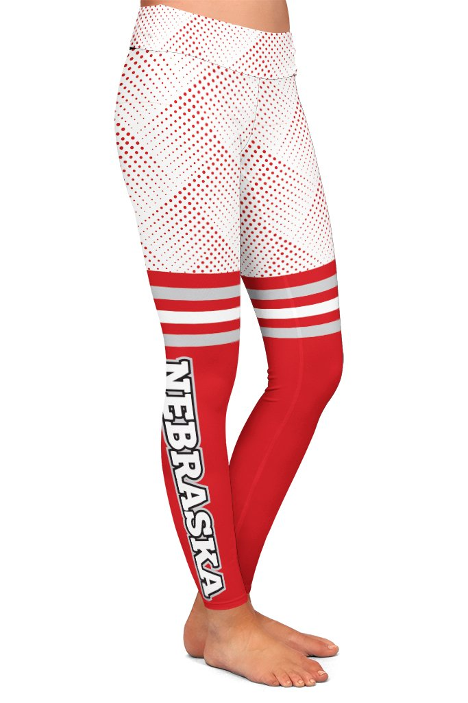 DS NEBRASKA FAN LEGGINGS - YOGA - EXCLUSIVE! (WHOLESALE)