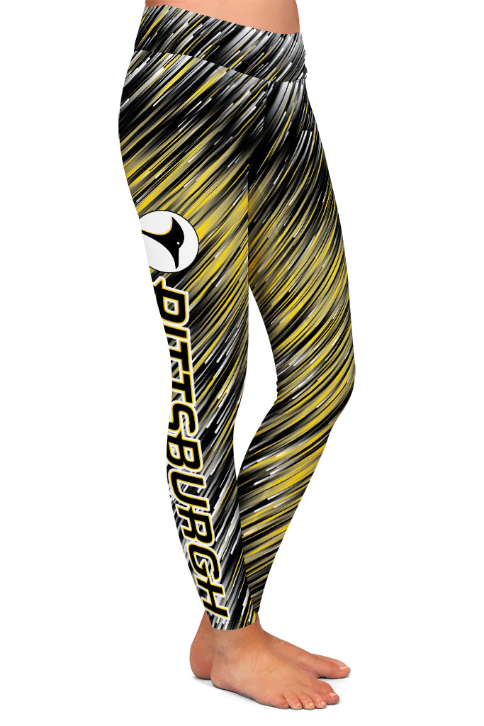PRE ORDER PITTSBURGH HOCKEY LEGGINGS - YOGA - EXCLUSIVE! BATCH 3