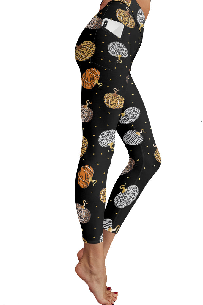 PRE ORDER WILD PUMPKINS POCKET LEGGINGS - YOGA - EXCLUSIVE! BATCH 1