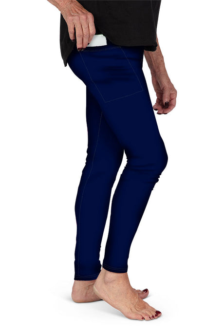 SOLID NAVY WITH SIDE POCKET LEGGINGS - YOGA - EXCLUSIVE!
