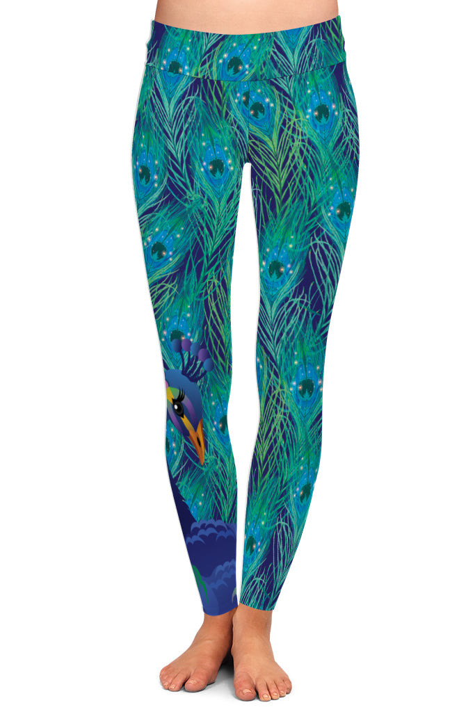 PEACOCK LEGGINGS - YOGA - EXCLUSIVE!