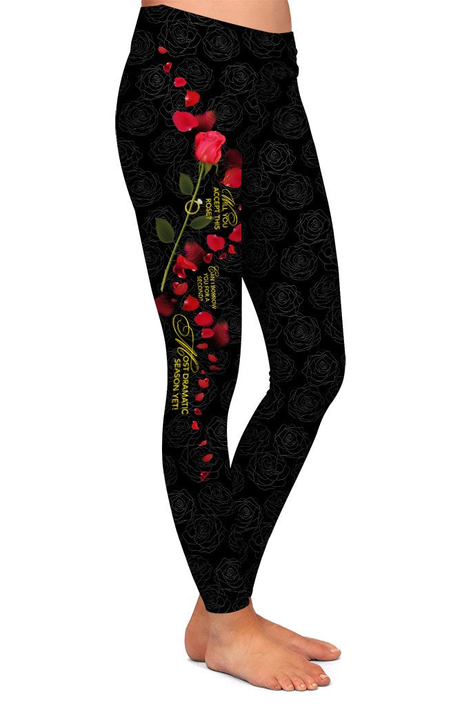 DS WILL YOU ACCEPT THIS ROSE LEGGINGS - YOGA - EXCLUSIVE! (WHOLESALE)