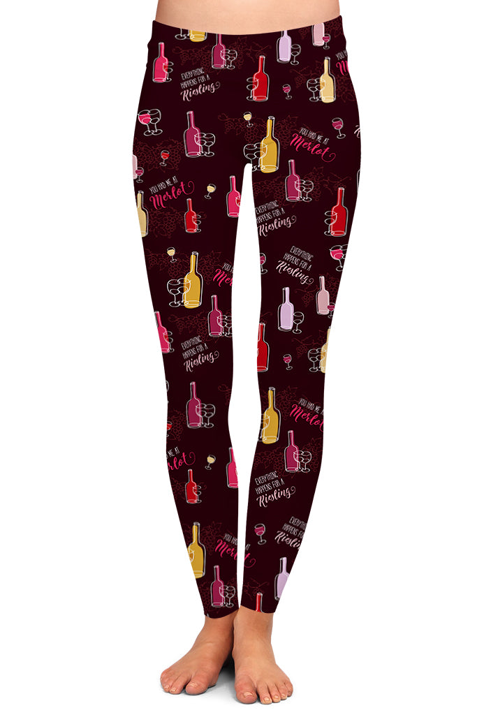 WINE ALL DAY LEGGINGS - YOGA - EXCLUSIVE!