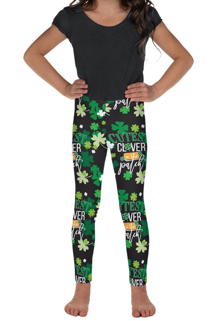 PRE ORDER KIDS CUTEST CLOVER IN THE PATCH LEGGINGS - YOGA - EXCLUSIVE! BATCH 1