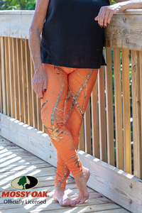 OFFICIALLY LICENSED MOSSY OAK ROOTS ORANGE LEGGINGS - YOGA - EXCLUSIVE!