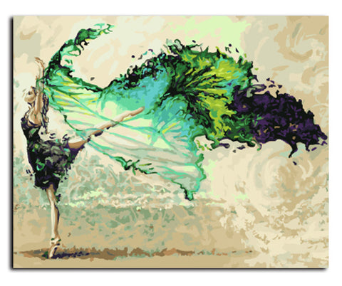 Dancer - DIY Canvas Oil Painting Kit - Creative Movement! by ImDS * - Artisan Luxury Art Lovers Shop