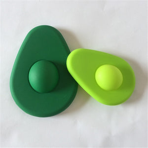 Silicone Avocado Fresh Keepers (2 Sizes Included)