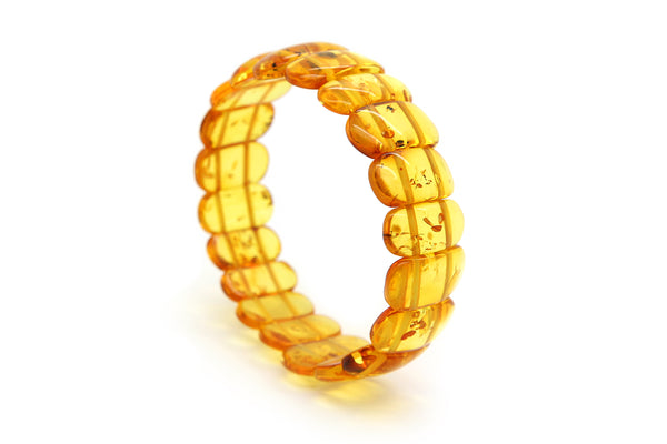 Genuine Natural Baltic Amber Stretch Bracelet For Women