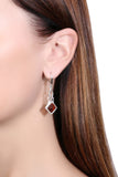 925 Sterling Silver Art Deco Leverback Dangle Earrings with Genuine Natural Baltic Amber