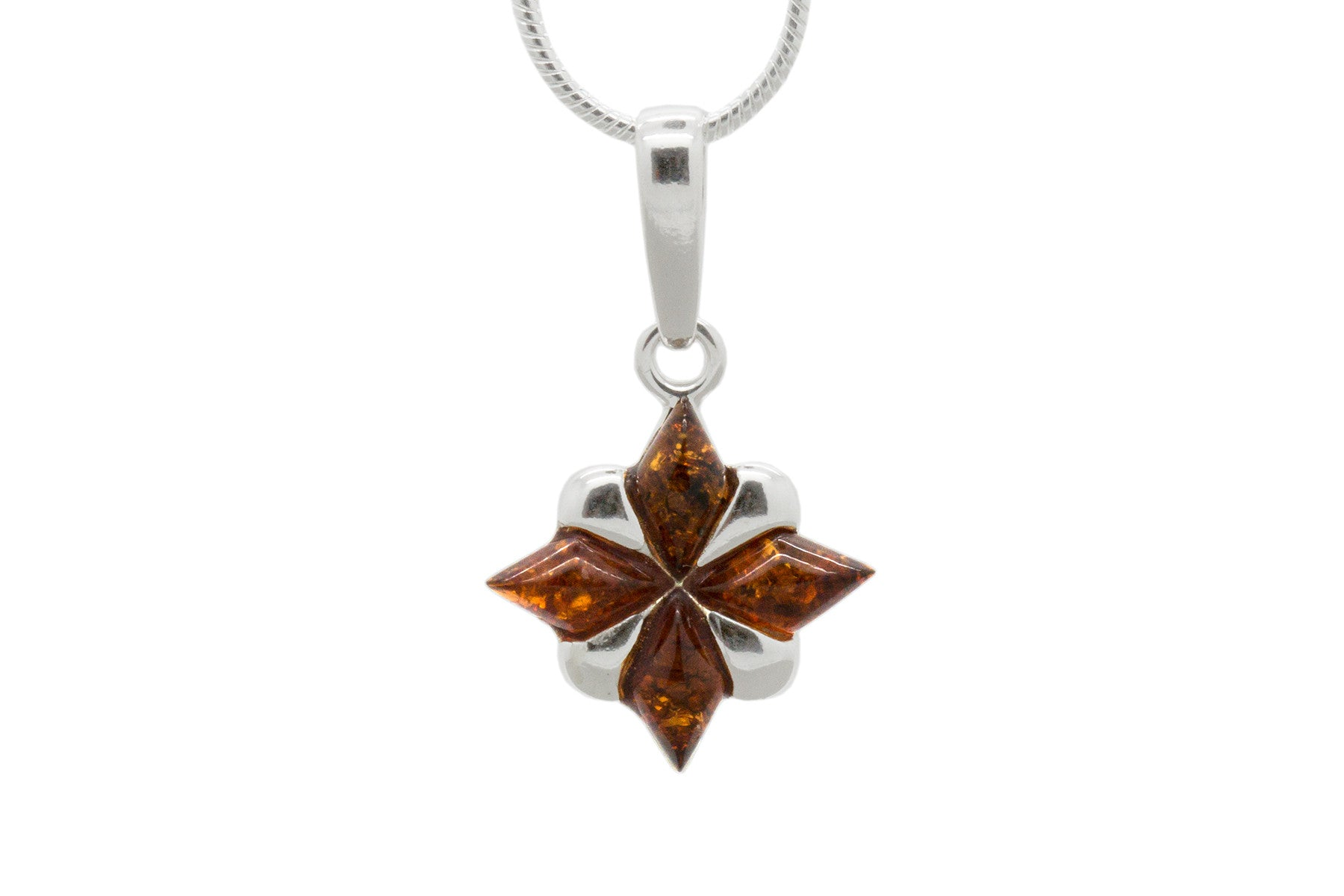 925 sterling silver north star pendant necklace with genuine natural 925 sterling silver north star pendant necklace with genuine natural baltic amber chain included aloadofball Images