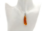 Genuine Natural Baltic Cognac Color Amber Pendant Necklace