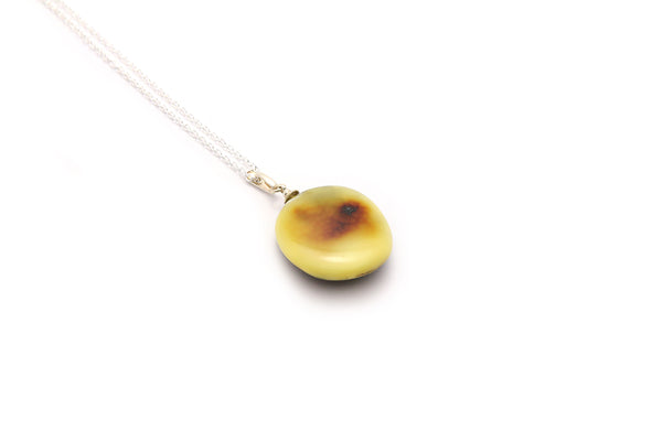 textured round silver bail sterling for rflt cognac pendant amber