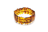 Genuine Natural Baltic Cognac Amber Stretch Bracelet For Women