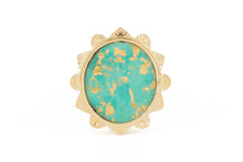 MALKA RING - TURQUOISE COVERED IN GOLD FOIL