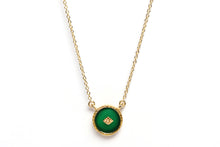 SANJA NECKLACE - GREEN ONYX