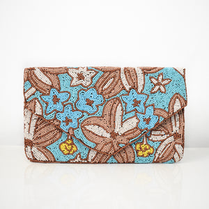 Hawaiian Sunset Beaded Clutch, clutch - twobakedbuns