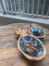 Teak and Abalone Pineapple Display (Midnight)
