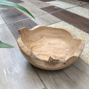 Natural Teak Display Bowl (Small)