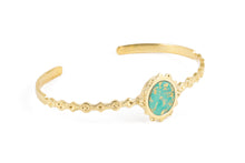 malka cuff turquoise with gold foil be maad bracelet