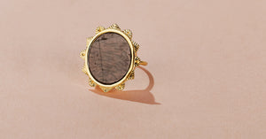 MALKA RING - TEXTURED ONYX