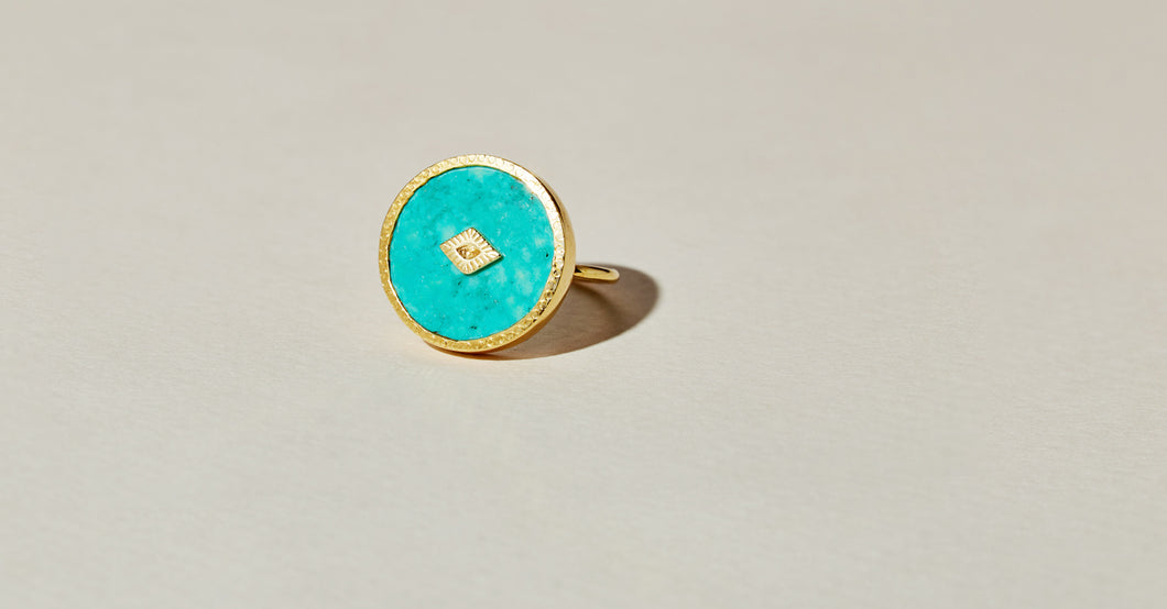 sanja turquoise ring be maad natural gemstones