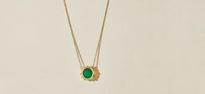 MALKA NECKLACE - GREEN ONYX
